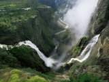 Voringsfossen Waterfall  Hardanger Region  Norway  Scandinavia