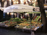 Fruit and Vegetable Shop in the Piazza Mercato  Frascati  Lazio  Italy