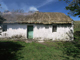 Traditional Thatched Cottage Near Glencolumbkille  County Donegal  Ulster  Eire