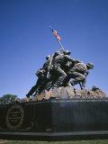 Iwo Jima War Memorial to the US Marine Corps  Second World War  Arlington  USA
