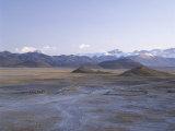 Mount Everest and Himalaya Mountains  U-Tsang Region  Tibet  China