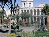 Plaza De Armas  Main Square  Arequipa  Unesco World Heritage Site  Peru  South America