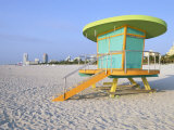 Art Deco Style Lifeguard Hut  South Beach  Miami Beach  Miami  Florida  USA