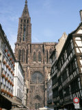 Gothic Christian Cathedral Dating from the 12th to 15th Centuries  Strasbourg  Alsace  France