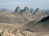 Hoggar Mountains  Algeria  North Africa  Africa