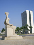 Palacio Do Congresso from the Palace of Justice  Brasilia  Unesco World Heritage Site  Brazil