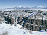 Bridge Over Rio Grande Gorge Near Taos  New Mexico  USA