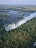 Aerial View of the Victoria Falls  Unesco World Heritage Site  Zimbabwe  Africa