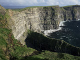 The Cliffs of Moher  Looking Towards Hag's Head from O'Brian's Tower  County Clare  Eire