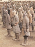 Terracotta Figures from 2000 Year Old Army of Terracotta Warriors  Xian  Shaanxi Province  China
