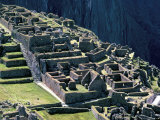 Ruins of Inca City in Morning Light  Machu Picchu  Urubamba Province  Peru