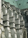 Buttresses on the South Front of the Cathedral  Chartres  France