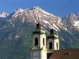 Church with Mountain Backdrop  Innsbruck  Tirol (Tyrol)  Austria