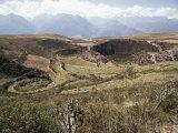 Interlinking Terraces in Natural Landform  Cuzco  Moray  Peru  South America