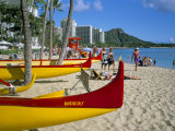Waikiki Beach  Honolulu  Oahu  Hawaiian Islands  United States of America  Pacific  North America
