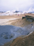 Namafjall Geothermal Area  North East  Iceland  Polar Regions