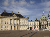 Amalienborg Square  with Palace and Marble Church  Copenhagen  Denmark  Scandinavia