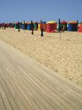 La Planche (Boadwalk) and Beach  Deauville  Calvados  Normandy  France
