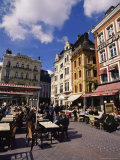 Flemish Houses and Cafes  Grand Place  Lille  Nord  France
