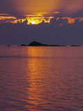 Sunset Over Sea and Offshore Islands  Dinard  Cote d&#39;Emeraude  Cotes d&#39;Armor  Brittany  France