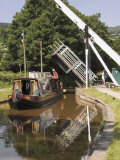 Liftbridge and Towpath  Tal Y Bont  Monmouth and Brecon Canal  Powys  Mid-Wales  Wales
