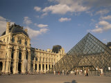 La Pyramide and the Musee Du Louvre  Paris  France