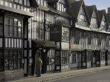 Half Timbered Shakespeare Hostelry  Stratford Upon Avon  Warwickshire  England