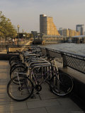 Bicycle Racks  Canary Riverside Walk Alongside River Thames  Canary Wharf  London