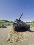 Tank Commemorating D-Day Rehearsals  Slapton Sands  Slapton Ley  South Hams  Devon  England