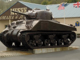 American Sherman Tank  Omaha Beach Museum  Normandy  France