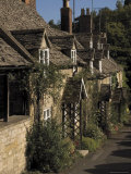 Honey Coloured Terraced Cottages  Winchcombe  the Cotswolds  Gloucestershire  England