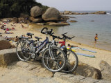 Bicycles  Tregastel  Cote De Granit Rose  Cotes d'Armor  Brittany  France