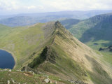 Striding Edge  Helvellyn  Lake District National Park  Cumbria  England  United Kingdom
