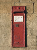 Victorian Post Box  Stanway Village the Cotswolds  Gloucestershire  England  United Kingdom