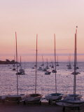 Sunset Over Boats  Tregastel  Cote De Granit Rose  Cotes d'Armor  Brittany  France