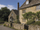 Stone Cottages  Lower Slaughter  the Cotswolds  Gloucestershire  England  United Kingdom