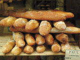 Baguettes in the Window of the Paul Bread Shop, Lille, Flanders, Nord, France Papier Photo par David Hughes
