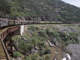 Train  White Pass Railway  Skagway  Alaska  United States of America (Usa)  North America