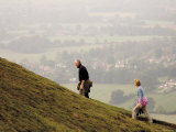 Couple Walking  British Camp  Hereford Beacon  Malvern Hills  Herefordshire  Midlands