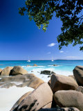 Beach  Anse Lazio  Island of Praslin  Seychelles  Indian Ocean  Africa