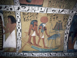 Wall Painting in the Tomb of Sinjin  Chief Artist to Ramses II  Deir El Medina  Thebes
