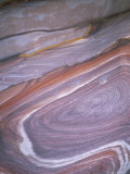 Close-Up of Coloured Sandstone from Which the Nabateans Carved Their City  Petra  Jordan