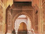 Interior View of Moroccan Restaurant  La Mamounia Hotel  Marrakech  Morocco  North Africa
