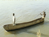 Dug out Canoe on the River Nile at Mongala  Southern Area  Sudan  Africa