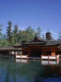 Itsukushima-Jinja Shrine and Five Storeyed Pagoda  Miya-Jima Island  Honshu  Japan