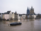 Floods in 1995  River Rhine  Cologne (Koln)  Germany