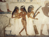 Wall Paintings of Female Musicians in the Tomb of Nakht