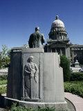 W A Coughanor Monument Outside Idaho Capitol  Boise  Idaho  USA