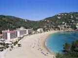 Beach  Cala De Sant Vicent  Ibiza  Balearic Islands  Spain  Mediterranean