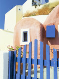 Painted Houses and Blue Gate  Imerovigli  Santorini  Cyclades Islands  Greek Islands  Greece